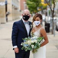 Mr Mrs-mascarilla de boda personalizada, máscara facial para novia y novio, mascarilla personalizada para decoración de fiestas de boda y eventos