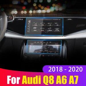 Закаленное стекло для Audi Q8 A6 C8 A7 2018 2019 2020, Автомобильная навигационная панель монитора, защитная пленка, наклейка, аксессуары