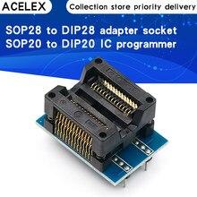 SOP28 à DIP28 adaptateur prise large 300mil IC SOIC28 à DIP28 SOP16 à DIP16 SOP20 à DIP20 IC programmeur adaptateur de prise