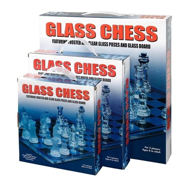 Jeu d'échecs grande taille 35CM en acrylique - aspect verre classieux 5