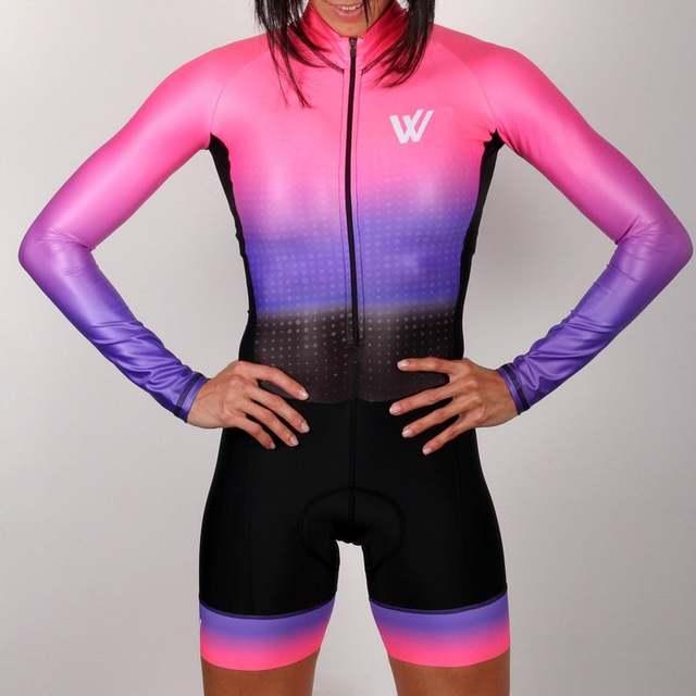 2020 pro equipe triathlon terno manga longa das mulheres camisa de ciclismo skinsuit macacão maillot ciclismo ropa ciclismo conjunto gel 2