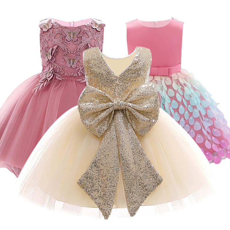 2020 Summer Baby Girl Clothes Wedding Dress For Girls Princess Dress Infant 1 Year First Birthday Girl Party Dress <font><b>6</b></font> <font><b>12</b></font> <font><b>24</b></font> Month image
