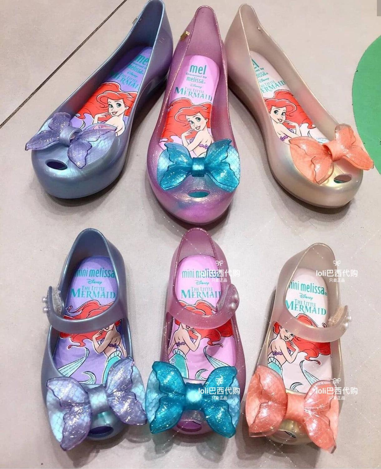 Mini Melissa 2020 New Jelly Sandals Party Girl Jelly Bow Sandals Girl Fish Mouth Princess Sandals Comfortable Melissa  SH19115