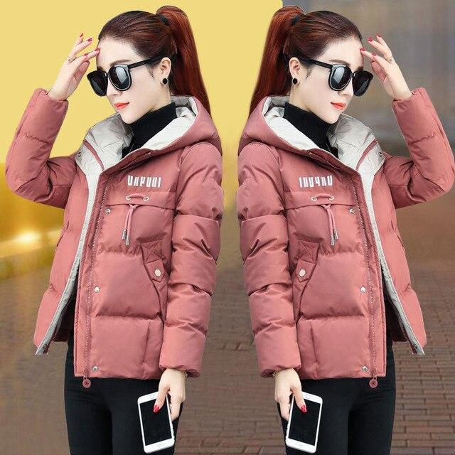 2020 nouvelle veste d'hiver femmes Parkas à capuche épais vers le bas coton rembourré Parka femme veste courte manteau mince vêtements d'extérieur chauds P772 2