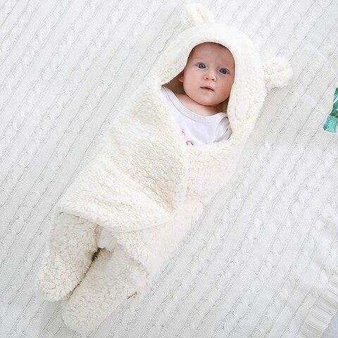 cobertor de swaddle do bebe luxuoso ultra macio