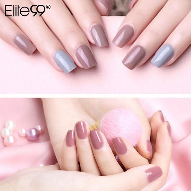 Elite99 7ml Nude Farbe Nagel Gel Polish Soak Off Gel Lack Lack Nail art Mancire Vernis Semi Permanant UV gel Nagellack