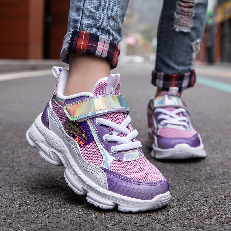 Fashion Kids Shoes Children Girls Sneakers Sport Tennis Shoes Casual Child Princess Shoes Girl Running Trainers Breathable Light
