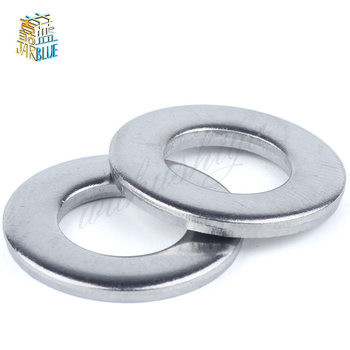 1/50/100pcs GB97 A2 304 Stainless Steel Flat Washer Plain Gasket for M1.6 M2 M2.5 M3 M4 M5 M6 M8 M10 M12 M16 M20 M24 Screw Bolt