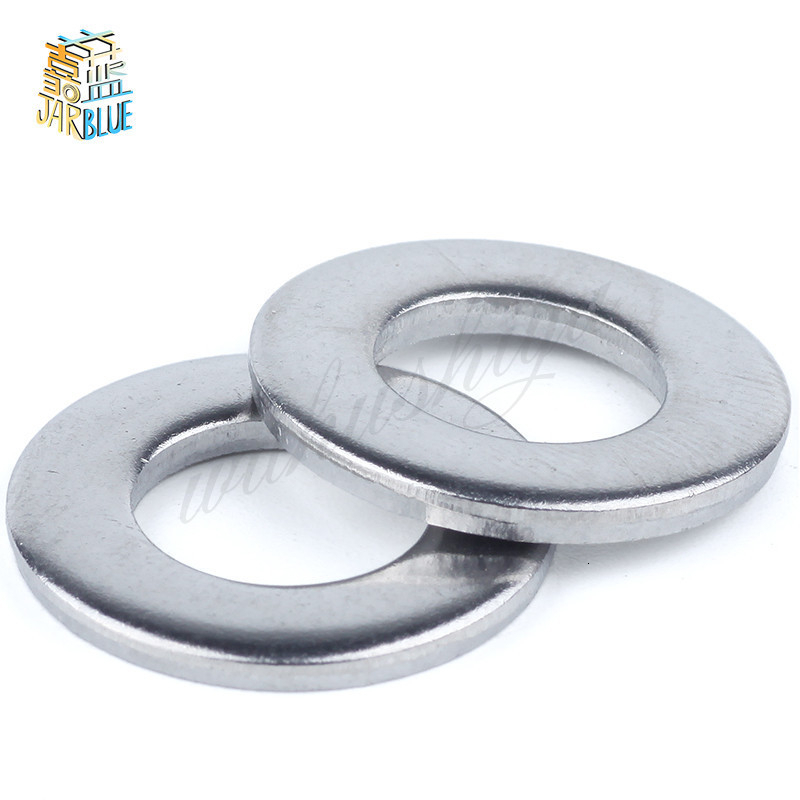 1/50/100pcs GB97 A2 304 Stainless Steel Flat <font><b>Washer</b></font> Plain Gasket for M1.6 M2 M2.5 M3 M4 M5 M6 <font><b>M8</b></font> M10 M12 M16 M20 M24 Screw Bolt image