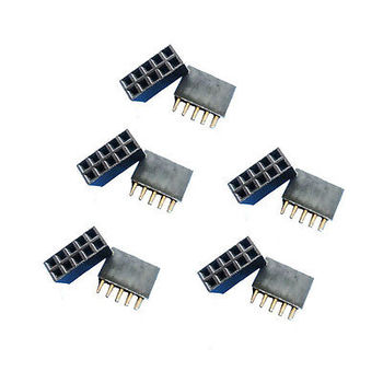 5pcs New Double Row 2.54 mm 2x5 pin Female pin header diy electronics цена 2017