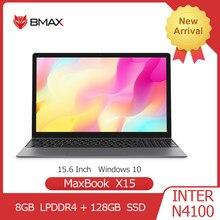Bmax x15 portátil 15.6 Polegada intel gemini lago n4100 uhd gráficos 600 8gb lpddr4 128gb ssd 1920*1080 win10 multi-idioma notebook