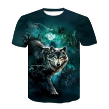 2020 Newest 3D T-shirt Summer Fashion T Shirt for Man Graphic T Shirts Men's Clothing animal Wolf Streetwear oversized t shirt