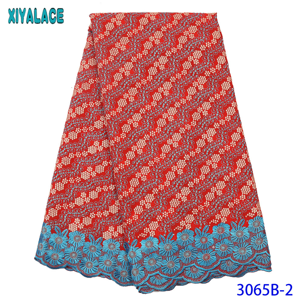 African Lace Fabric 2019 High Quality Lace Nigerian Red Lace Fabrics Swiss Voile Lace In Switzerland For Bridal KS3065B