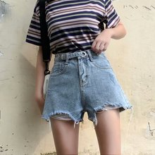 Нерегулярные широкими брючинами джинсовые шорты плюс размер 2020 новый большой Высокая Талия рваные джинсы шорты женщины прямой широкий ноги одежда