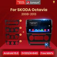Lecteur multimédia autoradio Junsun AI à commande vocale pour SKODA Octavia 2 A5 2008-2013 Android 10.0 Navigation vidéo GPS 2Din DVD
