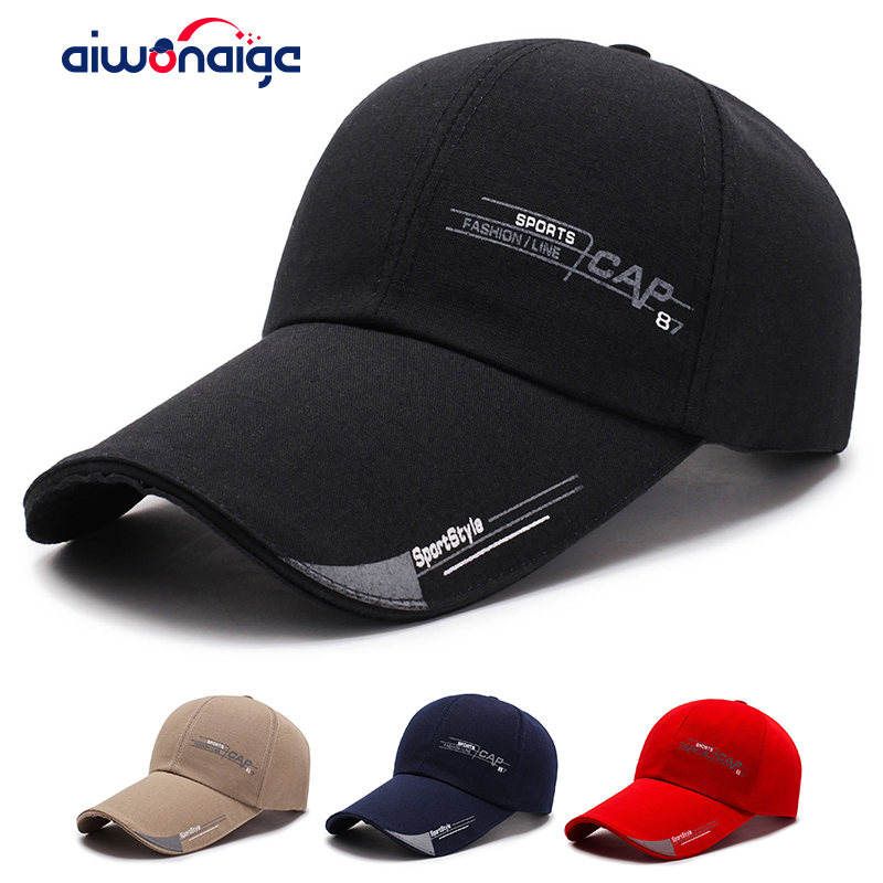 2020 Baseball Cap Letter Embroidery Black Fashion Baseball Cap Spring New Big Eaves Sun Hat High Quality Outing Sports Cap New