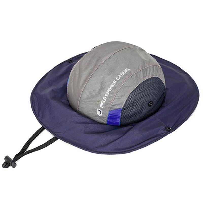 Summer Bucket Hat Hunting Fishing Outdoor Cap Wide Brim Unisex Dome Sunhat Quick-drying Fisherman Hats Q0KD