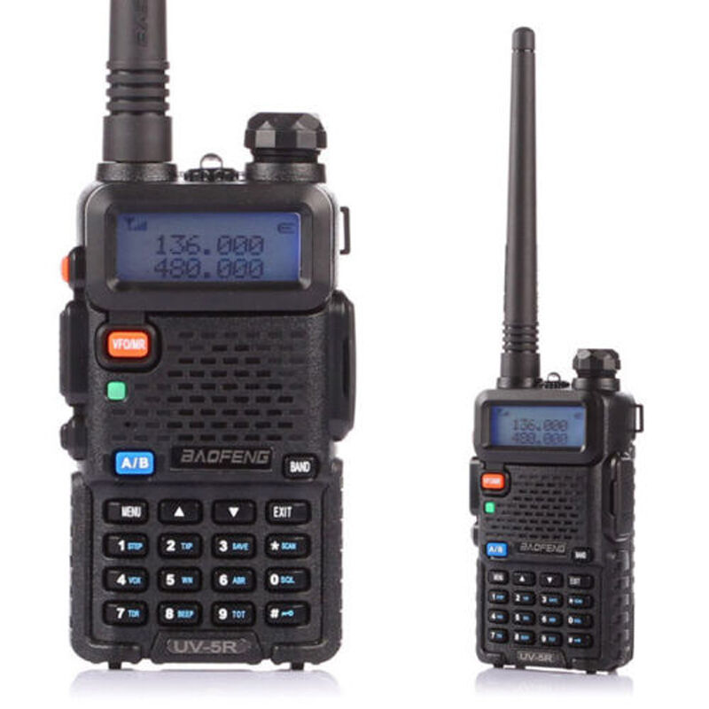 US Plug Baofeng UV-5R V2+ Dual-Band 136-174/400-520 MHz FM Ham Two-way Radio