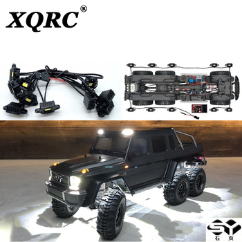 XQRC Remote Control RC automobile LED light kit, Mercedes Benz trx6 g63 AMG 6 X6 wheel eyebrow waterproof upgrade parts