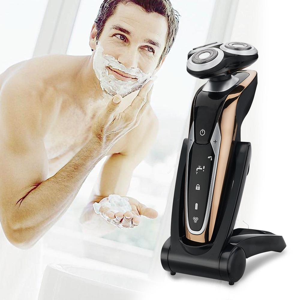 Beard Shaver Rechargeable Electric Razo r Multi functional Grooming Set with Hair Trimmer knife  nose hair and temple applicator|Electric Shavers|   - title=