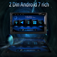2 din 7 rich Android car radio AUTORADIO Wifi FM USB Multimedia Audio  Video stereo player Universal GPS Navigation hizpo quad core 7 2 din android 7 1 car no dvd radio multimedia player 1024 600 universal gps navigation autoradio stereo audio