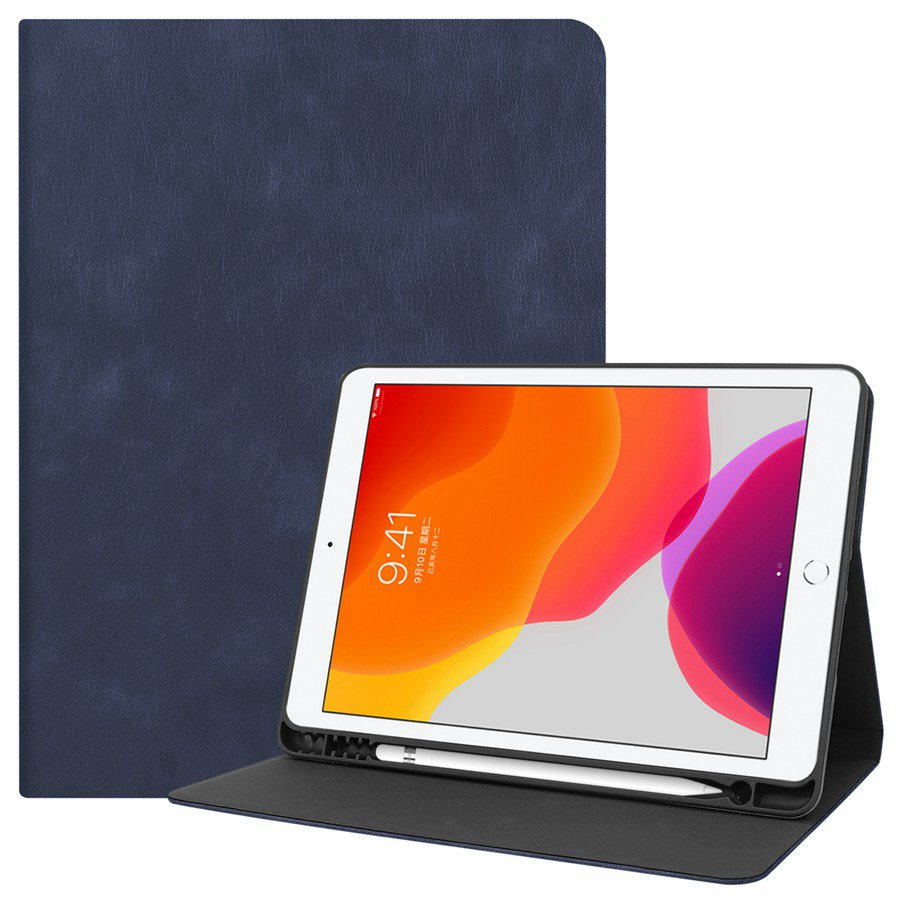 navy White Slim Smart PU Leather Case For Apple iPad 10 2 2019 with Pencil Holder Cover For
