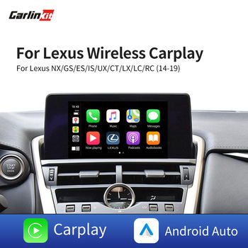 Carlinkit For Lexus NX ES US iS CT RX GS LS LX LC RC Wireless CarPlay/Android Auto Decoder Box Support Map/Music/Voice Control learning carpets us map carpet lc 201