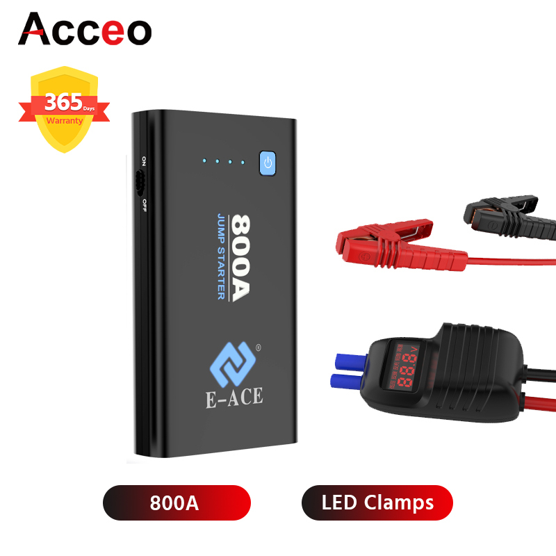 Acceo Starting Device 800A Car Jump starter power bank 12V Car Starter Car Battery Starter buster Car Starter Jamp Starter