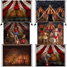 Цирковая фотография Фон колеса обозрения неоновые огни декорация
