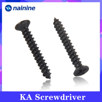 [M1-M4] DIN7982 Electronic Small Screws Self-tapping Screws Countersunk Flat Head Black KA image
