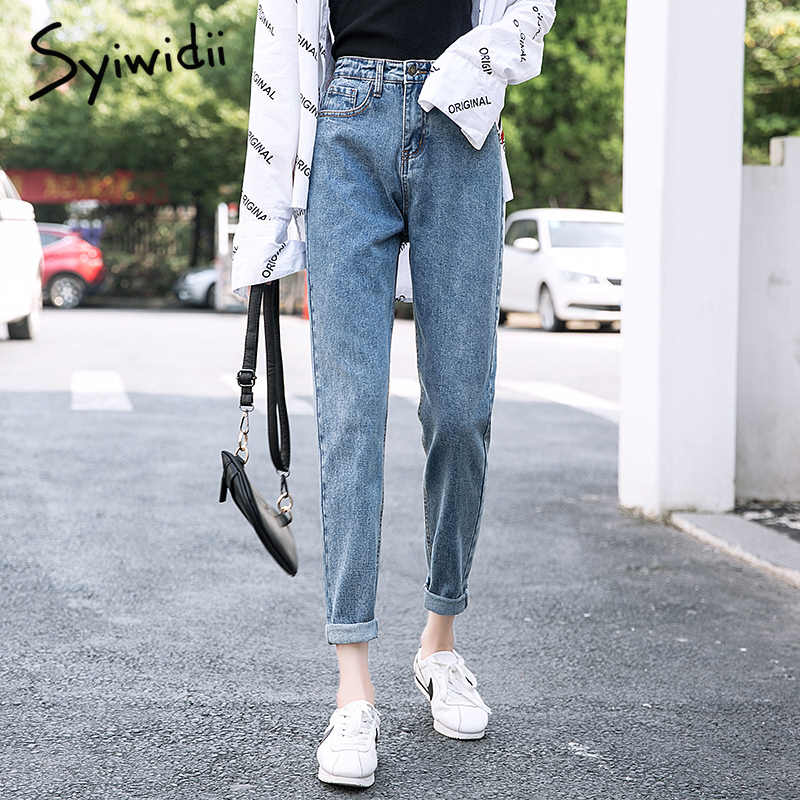 Mom Jeans High Waist Vintage Gray Blue Denim Pants Womens Clothing 5xl Plus Size Washed Boyfriend Jeans For Women Streetwear Jeans Aliexpress