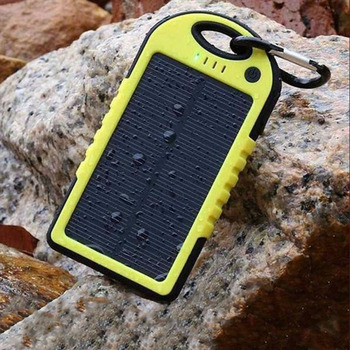 Solar 20000mAh power bank Portable Solar Panel Dual USB Battery Pack Charger Charging LED Battery Charger For iphone5 6 7 8 X 2