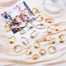 Peixin DIY Jewelry Making Accessories New Trendy Popular Hanging Chain Lock Hook Spiral Clasps DIY Necklace Bracelets Hand Made