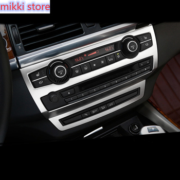 Chrome Car Styling Inner Middle Console AC CD Panel Decorative Cover trim frame For BMW X5 F15 X6 F16 E70 E71 Auto Accessories image