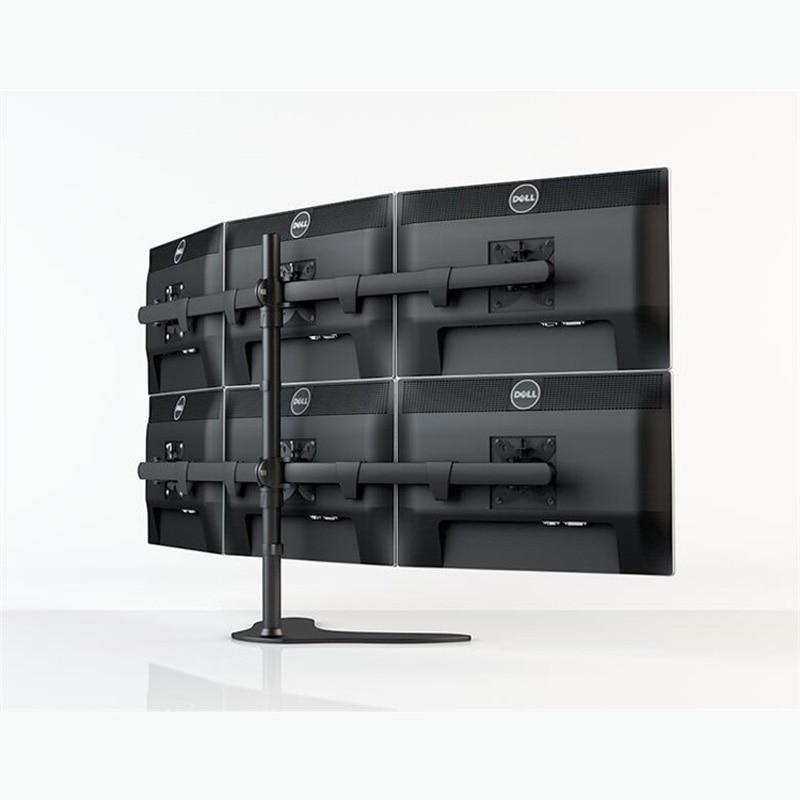DL-HM106 Desktop Stand Full Motion 360 Six Monitor Holder 10