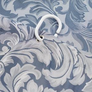 Image 5 - UFRIDAY Elegant Shower Curtain White Gauze Polyester Fabric Waterproof Bathroom Curtain Thick Jacquard Silver Grey Bath Curtains