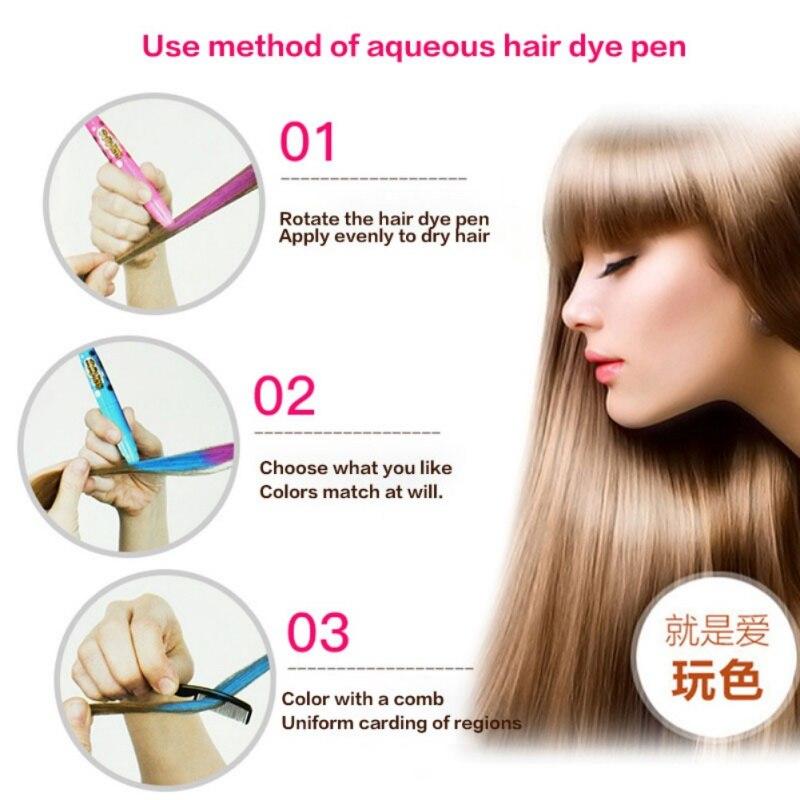 Cor do cabelo Da Vara Temporária Tintura