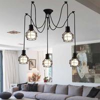 Lampy wiszące w stylu vintage dekoracja do czytania klosz z żelaza lampa wisząca salon Cafe lampa wisząca jadalnia Hotel oprawa w Wiszące lampki od Lampy i oświetlenie na