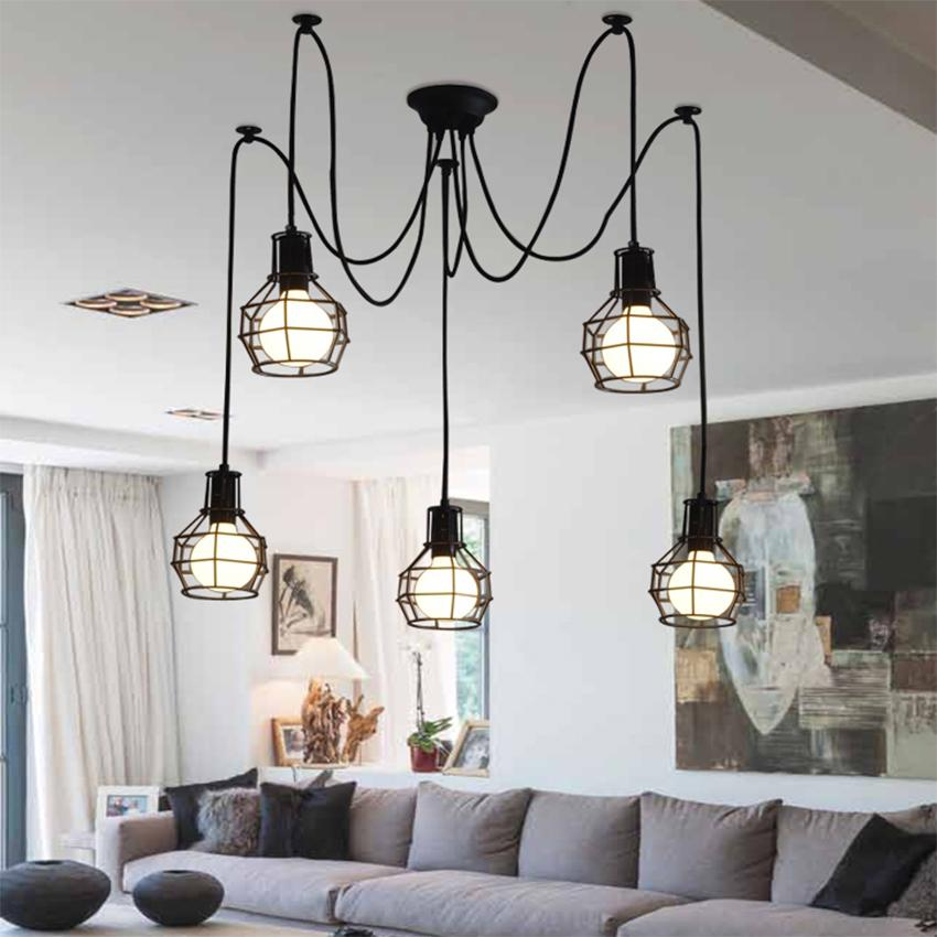Vintage Pendant Lights Reading Art Decor Iron Lampshade Pendant Lamp Living Room Cafe Hanging Lamp Dining Room Hotel Luminaire