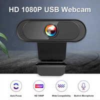 Cámara Web de 1080P Full HD 30fps, 2MP, USB 2,0, con micrófono incorporado para ordenador de escritorio, portátil, PC, TV