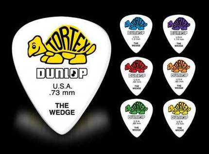 Dunlop Tortex Wedge Pick Plectrum Mediator 0.5mm-1.14mm
