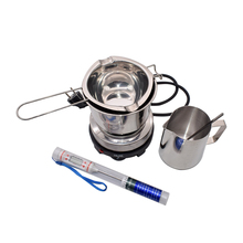 1Set Mini Electric Heater Stove with Beeswax Melting Pot Candle Making Beeswax Melter Beeswax Heateter Wax Melting DIY Candle