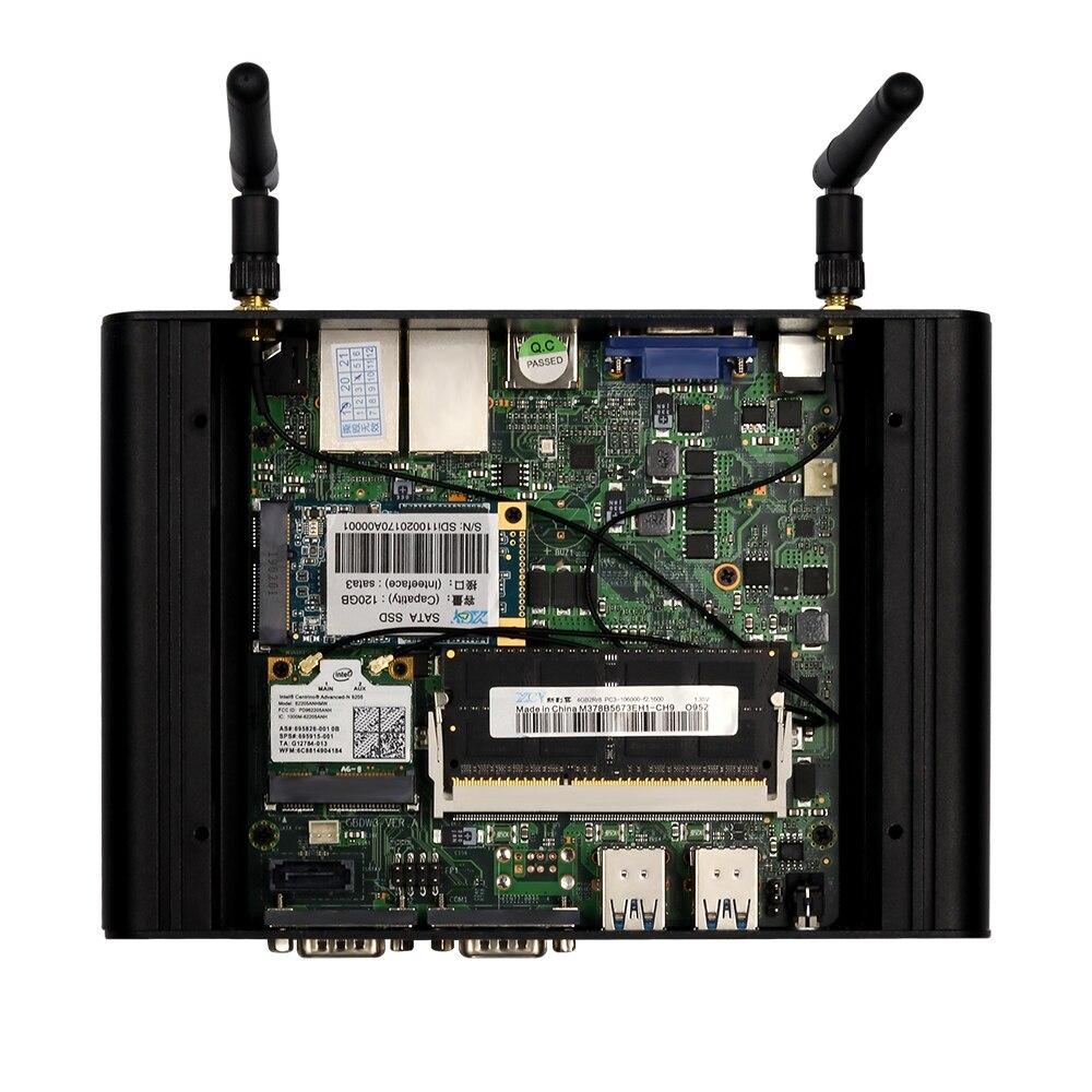 Image 5 - Dual LAN Mini PC Gagibat Ethernet Mini Computer Core i3 5005U i5 5200U i7 5500U Celeron 2955U Windows 10 Desktop NUC 2*COM HDMI-in Mini PC from Computer & Office