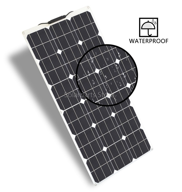 300W 2*150W Flexible  Solar Panel  20amp Charge controller No inverter 3