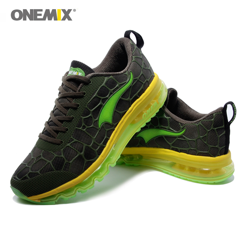 2020 ONEMIX Men Running Shoes Air Cushion Shock Outdoor Sports Shoes Absorption Breathable Athletic Jogging Shoes Light Sneakers