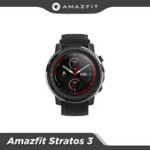 Amazfit-Reloj inteligente Stratos 3, dispositivo resistente al agua de 5 ATM, con reproductor de música, monitor de frecuencia cardíaca, Bluetooth, GPS, modo dual y batería de 14 días, para Android, nuevo 2019