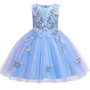 Image 3 - Kwiat dziewczyna ślub księżniczki druhna motyl haft Party Dress dziewczynka Graduation Ball Performance Party Dress