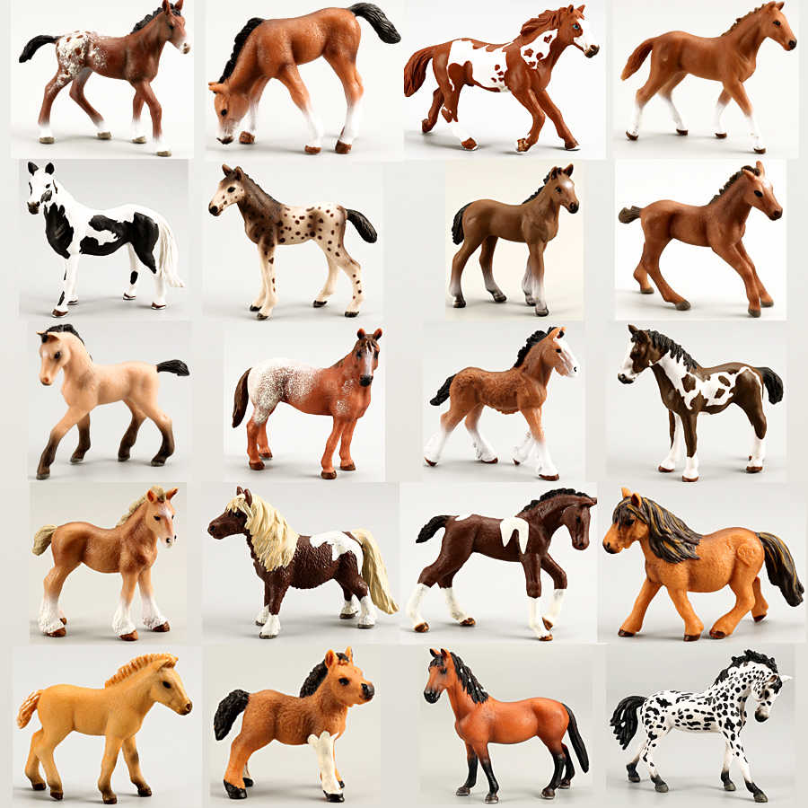 Realistic Horse//Cat Figures Toy Simulation Animal Model Kids Educational Toy