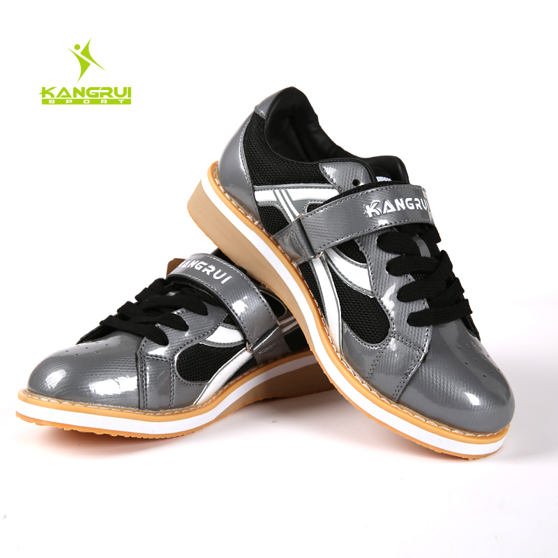 Unisex Kangrui High quality Professional Weightlifting Shoes Squat Training Leather Anti Slip Resistant Weight lifting Shoes