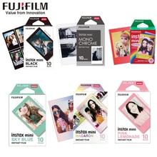 10 Sheets Fuji Fujifilm instax mini 11 9 films white Edge 3 Inch color film for Instant Camera mini 8 9 11 7s 25  Photo paper